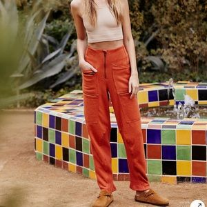 NWT Free People Movement Orange Break Away Pants
